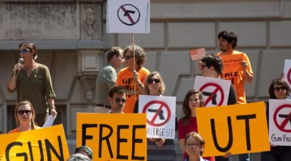 Univ of Texas to allow partially loaded guns in class, ban them in dorms