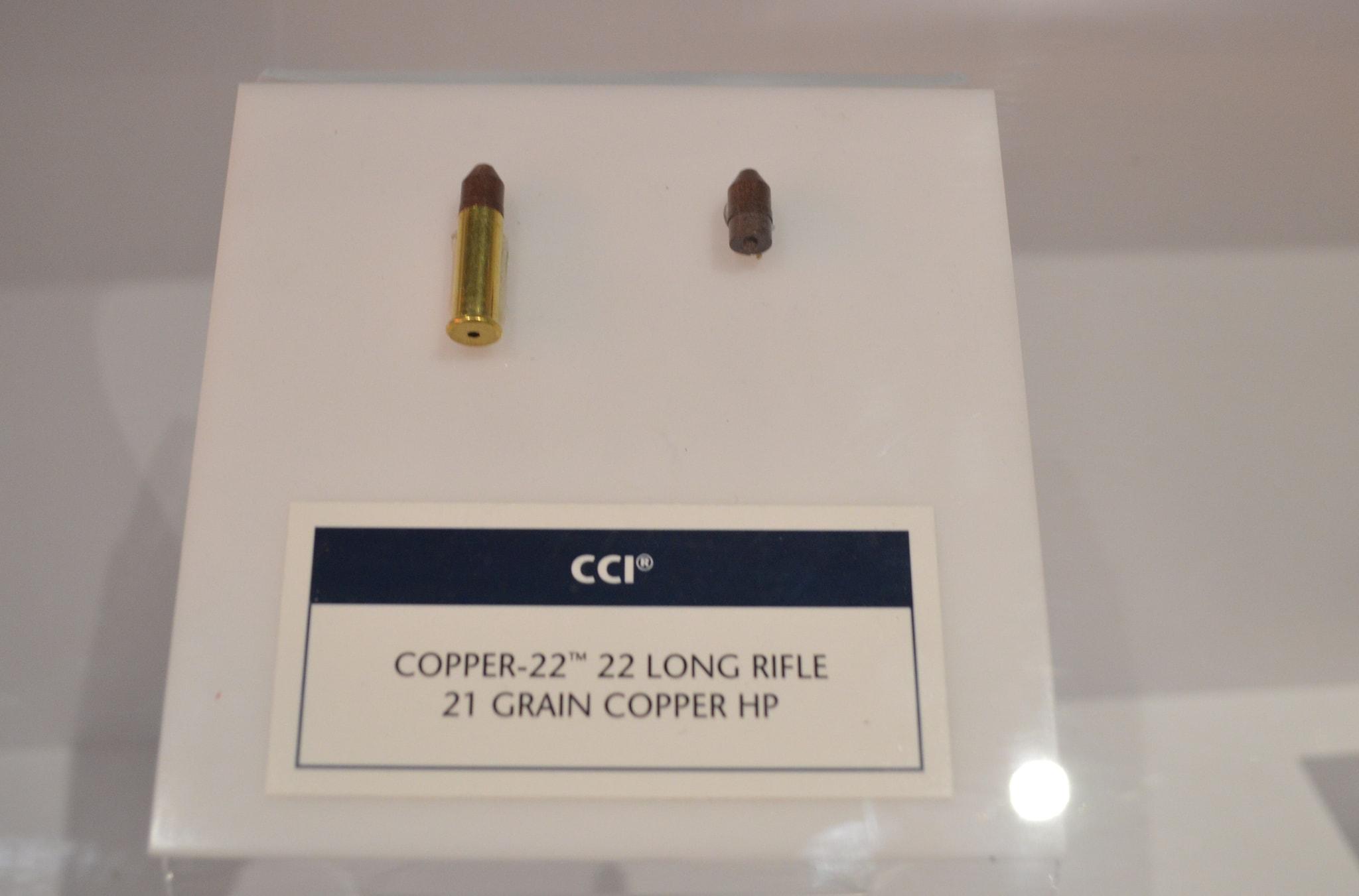 The new CCI Copper-22, California compliant rimfire ammunition. (Photo: Kristin Alberts)