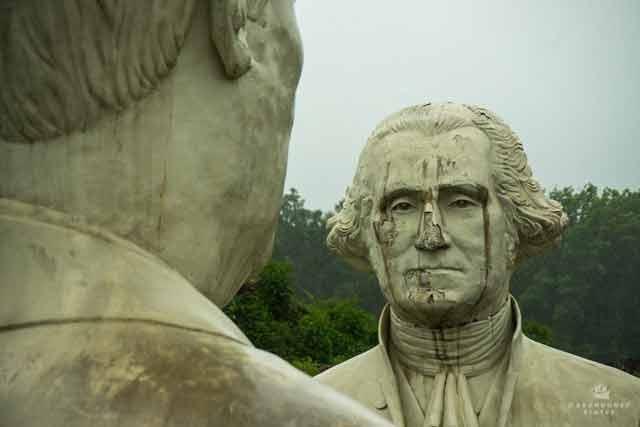 president head sculptures