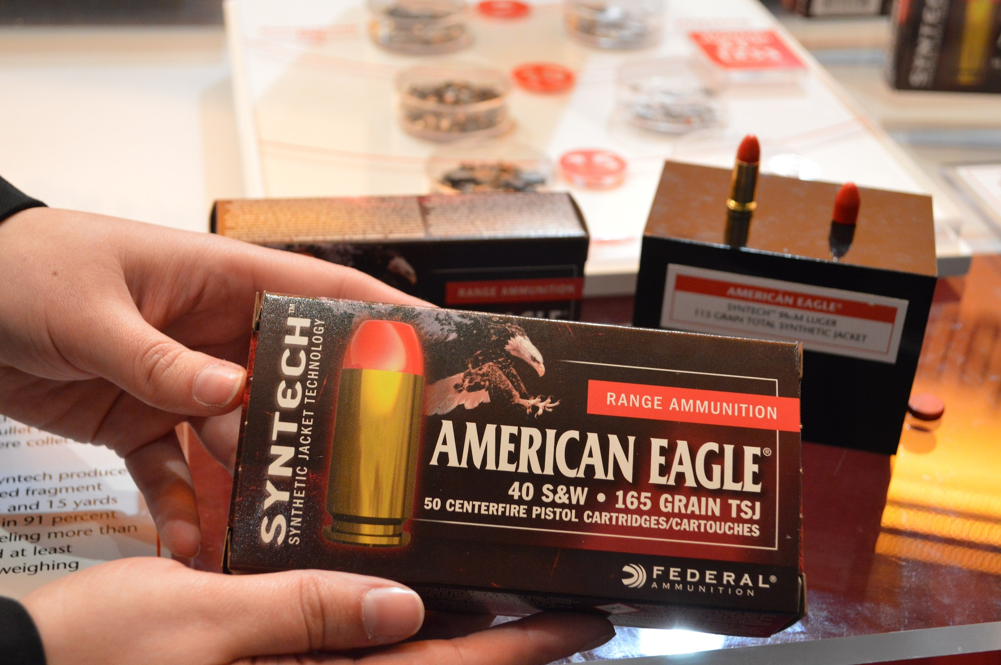 The new Syntech indoor-range-friendly line of ammunition (Photo: Bill Stewart)