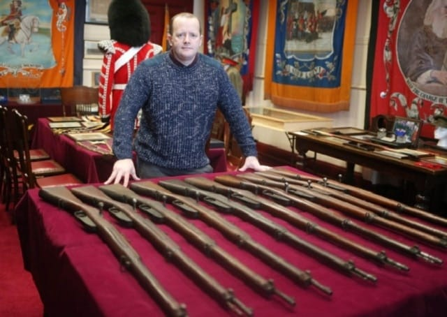 Cabinet of rifles hidden for 100 years pop up in Northern Ireland (1)