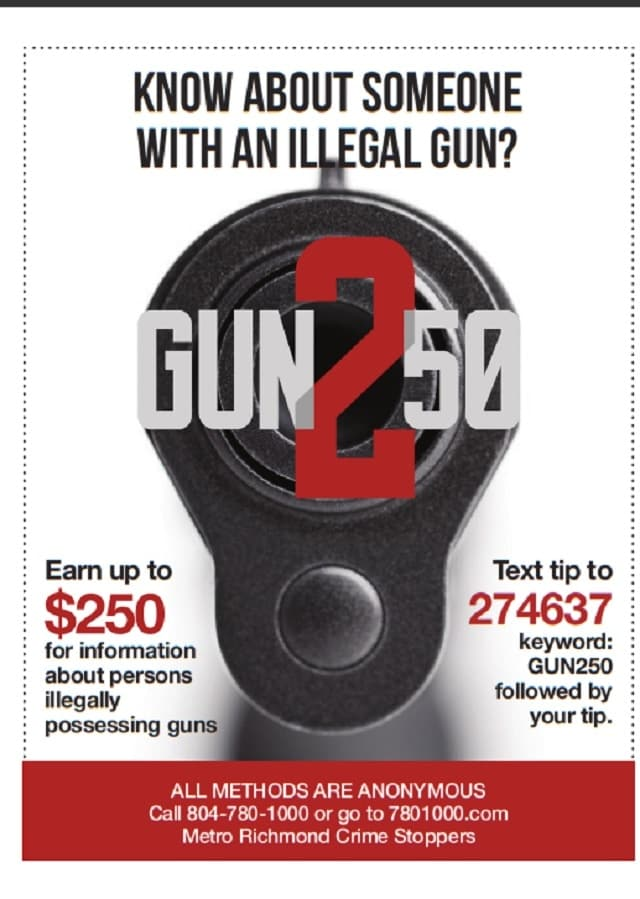 Crime stoppers group offers $250 for anyommous tips on guns