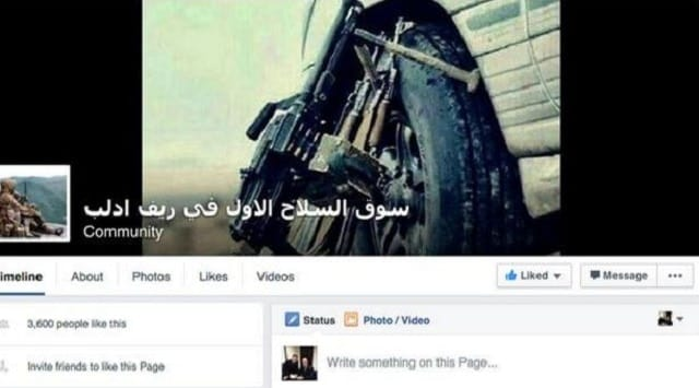 Middle Eastern arms dealing community page on Facebook.