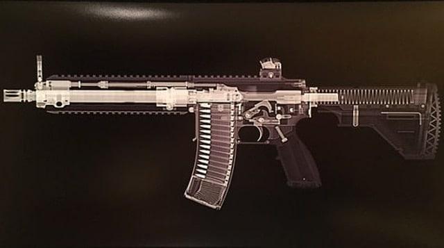 Detail of an HK416 print.
