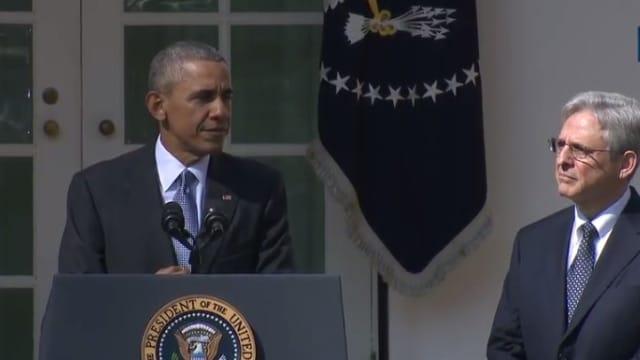 President Obama nominates Merrick Garland to replace Scalia on Supreme Court