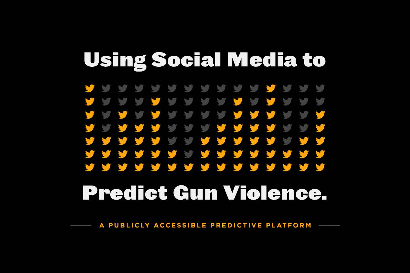 A gun violence prevention platform using data scraped from the Google searches and social media chatter debuted at SXSW this week.