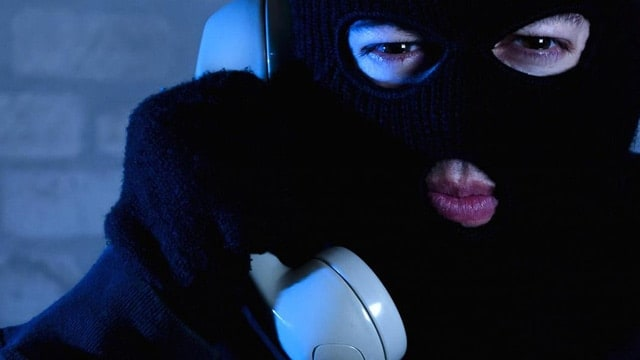 The scammers usually wear masks when they call.