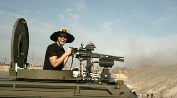 Scouring an armor plate with a Minigun (VIDEO)