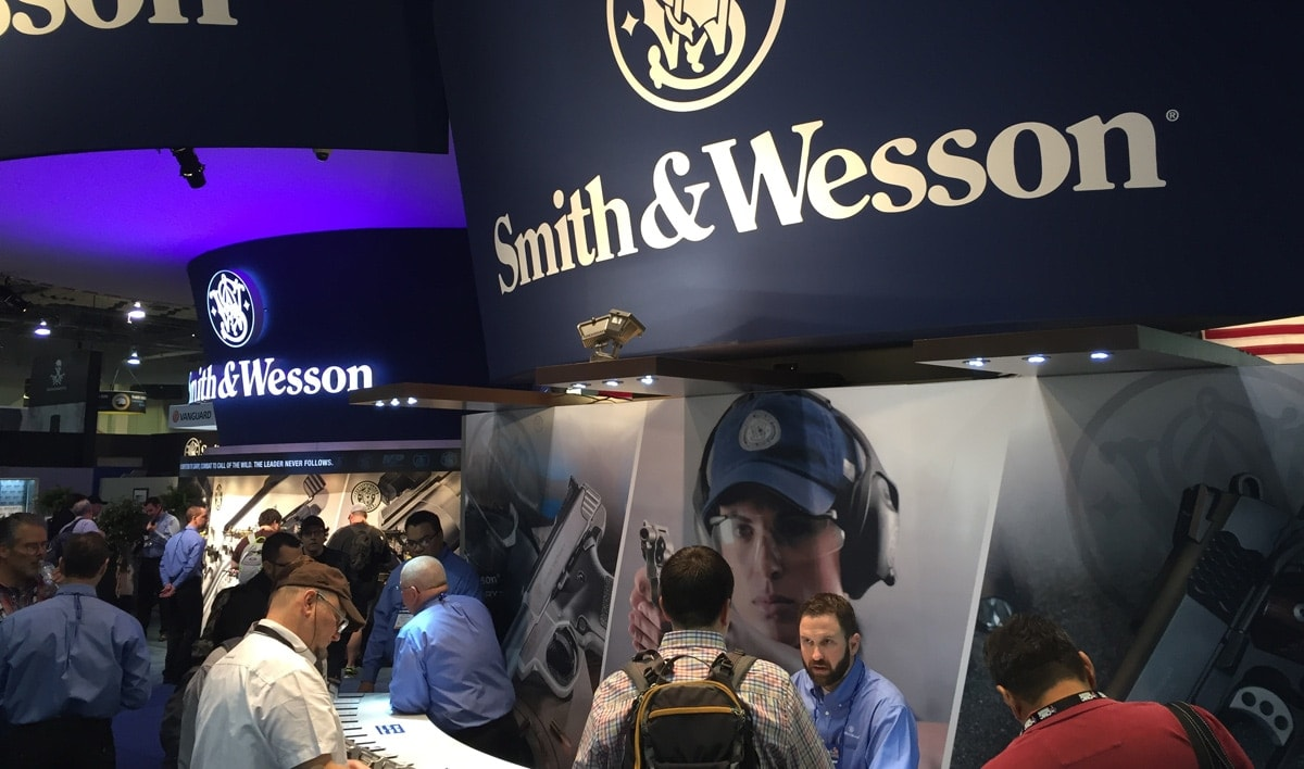 Smith & Wesson rarely changes its booth design at SHOT Show, says spectator Daniel Terrill at SHOT Show 2016. (Photo: Daniel Terrill)