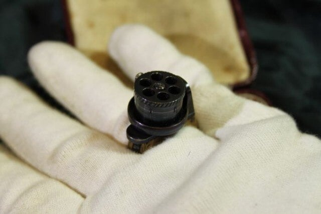 This 19th Century ring packs a six-shot punch
