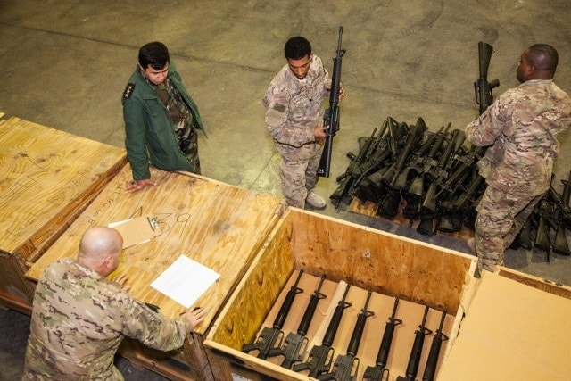 What it looks like to give away 1,200 M16s (4 PHOTOS)
