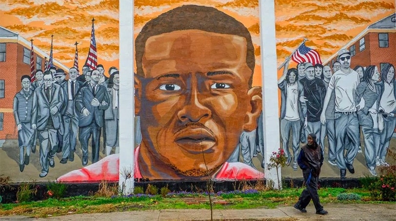 A mural of Freddie Gray in the Sandtown-Winchester neighborhood of Baltimore on Dec. 17, 2015. (Photo: Reuters via Time)