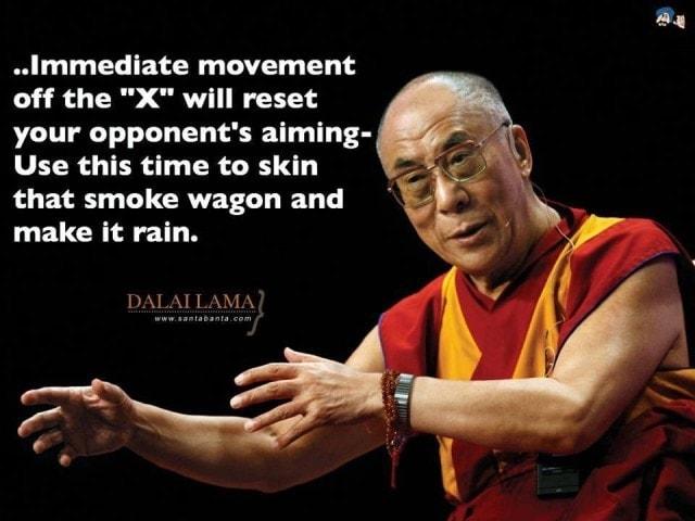 The Dalai Lama goes tactical, kinda ( PHOTOS)