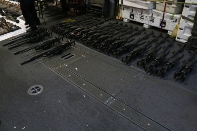 That's a whole fleet of Technicals right there, just add Toyota. (Photo: Mass Communication Specialist 2nd Class Darby C. Dillon/U.S. Navy)