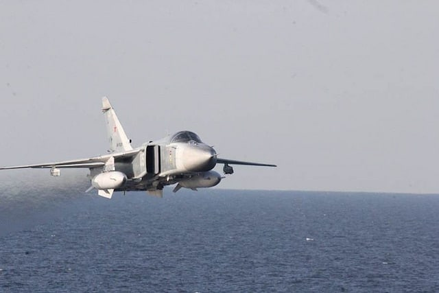"""""""The Russian aircraft flew in a simulated attack profile... and failed to respond to repeated safety advisories in both English and Russian,"""" noted a release from U.S. European Command."""