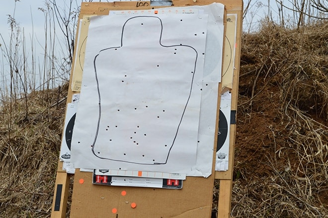 A_target_after_50_rounds_of_bump_firing_as_quickly_as_possible_from_a_distance_of_25_yards