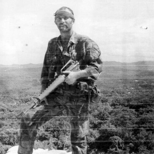 Patterson during his SAS days. Since leaving the service he has been involved in overseas contracting. (Photo: The Sun)