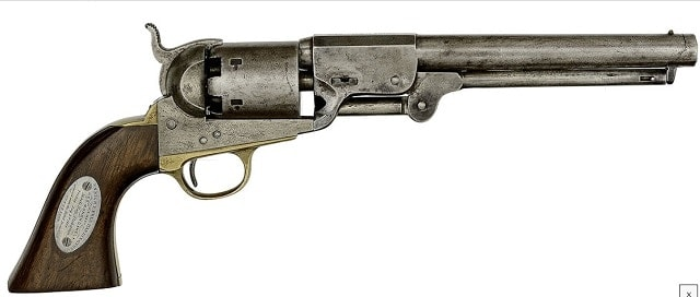 Leech & Rigdon Percussion Revolver Captured from the C.S.S. Tennessee at Mobile Bay, part of the Young Collection up for grabs. (Photos: Cowan)