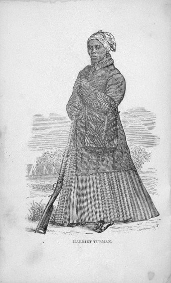 Tubman, born into slavery, often carried a pistol with her while helping escaped slaves escape, and a rifle during the Civil War