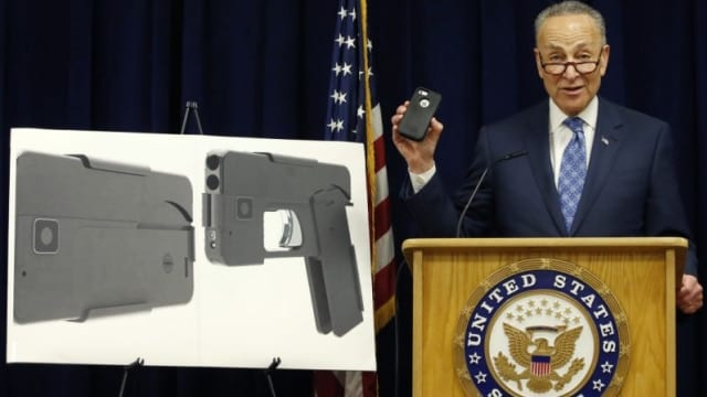 Schumer wants to lower the boom on cell phone gun citing terrorist concerns