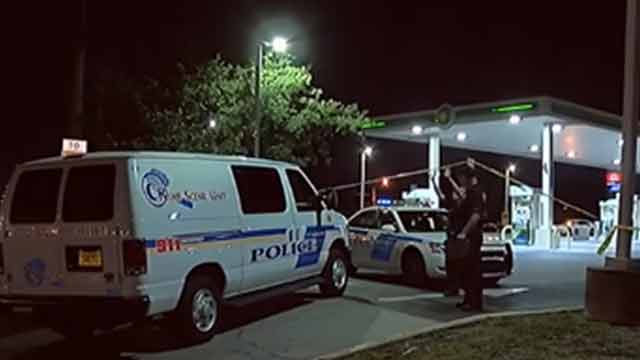 gas station shooting crime scene photo