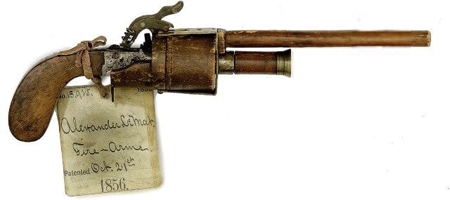 The unique, one-of-a-kind model for the LeMat revolver submitted to the U.S. Patent Office for protection against competitors.