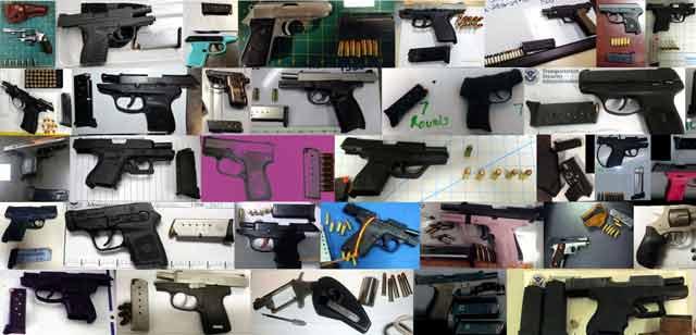 Guns, guns and more guns.