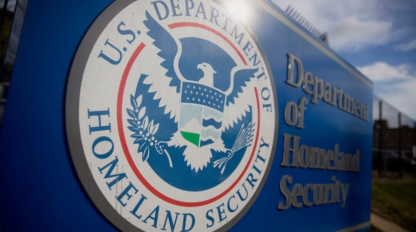 Homeland Security seal stands at the agency's headquarters in Washington, D.C. (Photo: Getty Images)