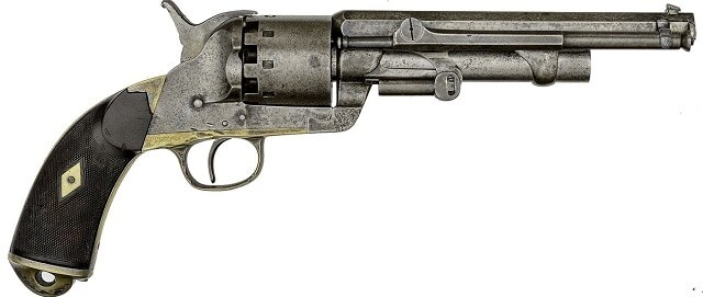 "Serial No. 2 LeMat Krider Percussion Revolver Used in the Trials of New Orleans and Washington D.C.A total of two of these American-made LeMat's exist, both sequentially marked. They are known in the literature as ""Krider No. 1"" and ""Krider No. 2"" in honor of their manufacturer. Krider No. 1 is curated in the Liege Arms Museum in Belgium."