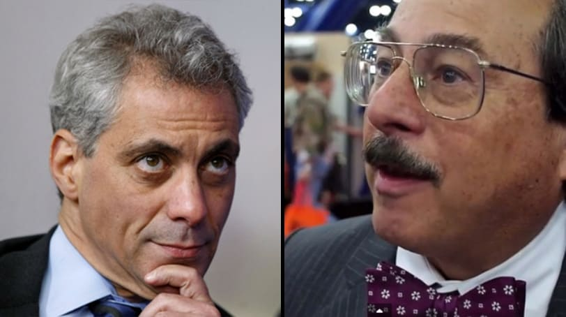 Alan Gottlieb, chairman of the Citizen's Committee for the Right to Keep and Bear Arms, called on Chicago Mayor Rahm Emanuel to step down following news of more than 1,000 shootings in 2016. (Photos: Reuters / Guns.com)