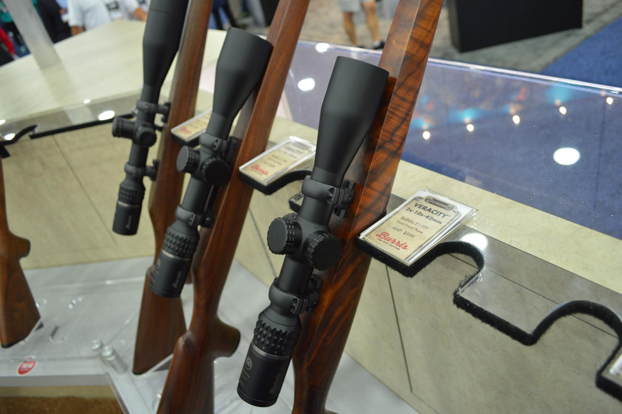 Burris Optics showed off a full family of Veracity 30mm front-focal-plane riflescopes