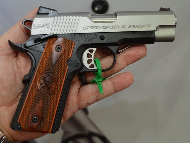 Springfield's Lightweight Champion series will have a 4-inch EMP offering which of course translates to an increased sight radius while still shying away from being a full-sized GI model-- but this is a 9-shot .40S&W. Because apparently this is something people want (?)