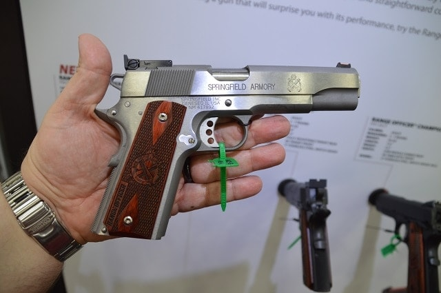Speaking of full-size, Springer's 1911 Range Officer now comes in a sweet stainless model with a mix of upper end features (extended beavertail, adjustable rear sights, skeli trigger, etc) without the corresponding custom gun price point.