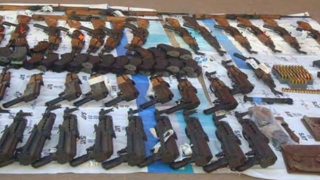 Weapons recovered by Mexican military in Naco, Sonora, Mexico on Nov. 20, 2009. They include weapons bought two weeks earlier by Operation Fast and Furious suspect Uriel Patino, who bought 723 guns during the operation. (Photo: Wikipedia)