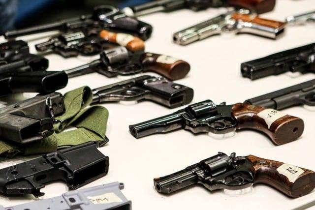 "364 handguns, 237 rifles, 144 shotguns, and 42 ""assault weapons"" were collected. (Photo: LA Mayor's Office)"