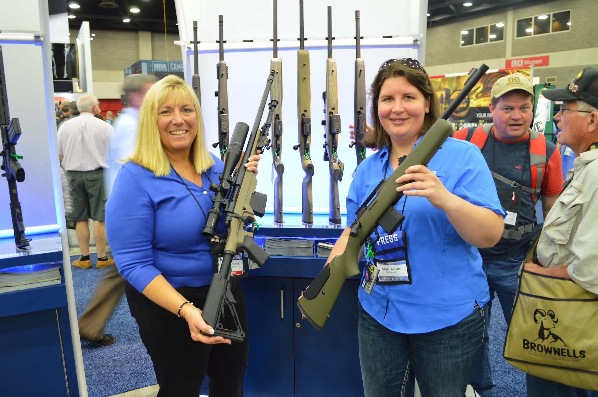 Mossberg's Light Chassis (left) and Long Range (right) rifles expand the existing MVP lineup for varmint and distance hunters.