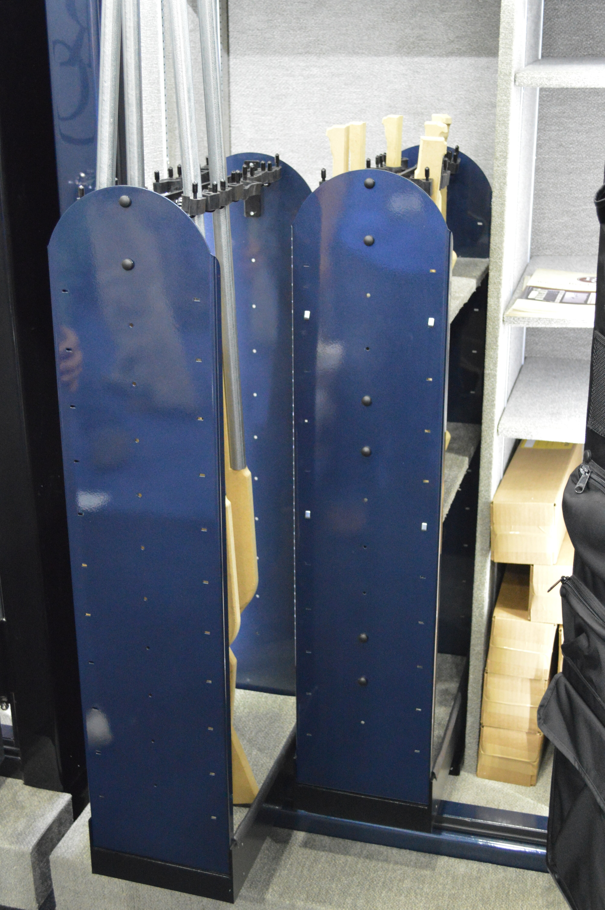 Reed Safe Vertical Slider Systems pull out of the safe for easy access to stored firearms.
