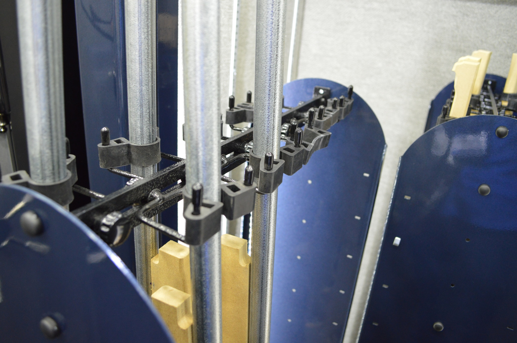 The Vertical Slideout System grips gun barrels in a cushioned but firm hold.