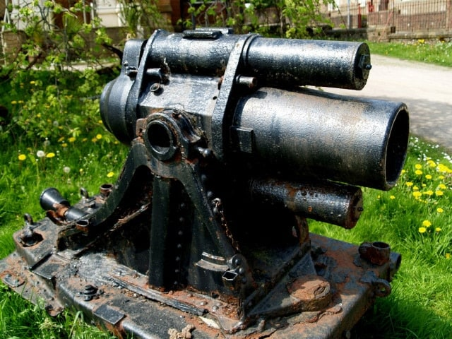 Scottish town saves rare German Minenwerfer from the scrapheap (5 PHOTOS)