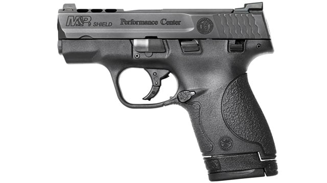Monday, Smith & Wesson of Massachusetts announced a new option for the Performance Center ported M&P Shield: tritium night sights.