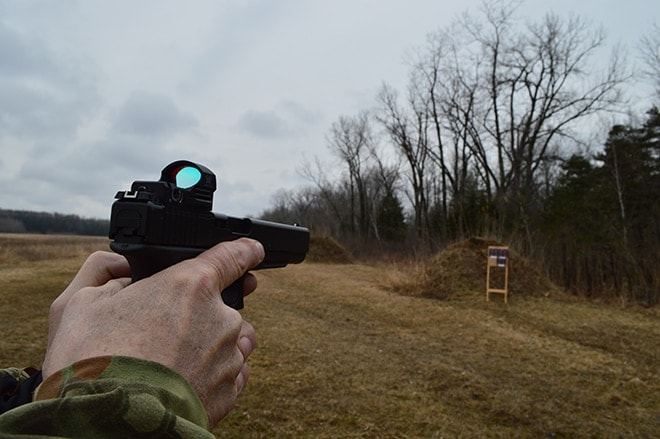 sight view outdoors of a glock 40