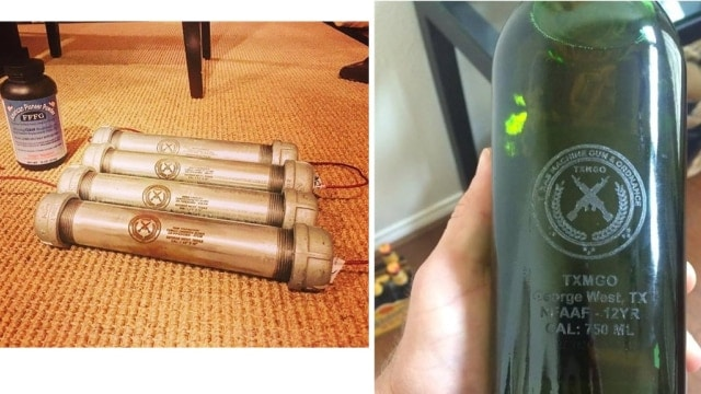 Texas gun shop selling NFA legal Molotov cocktails and pipebombs on Gunbroker