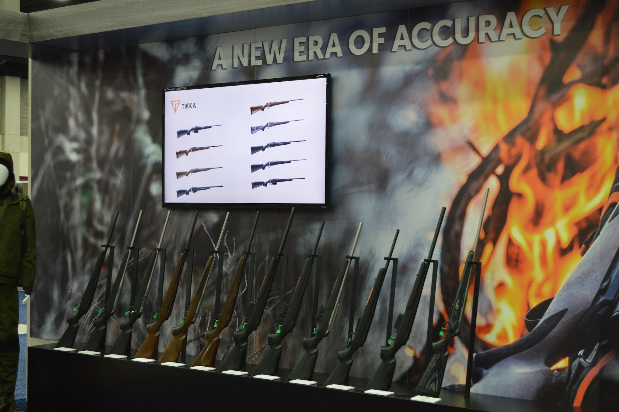 The full lineup of Tikka's new T3x rifles. (Photo: Kristin Alberts/Guns.com)