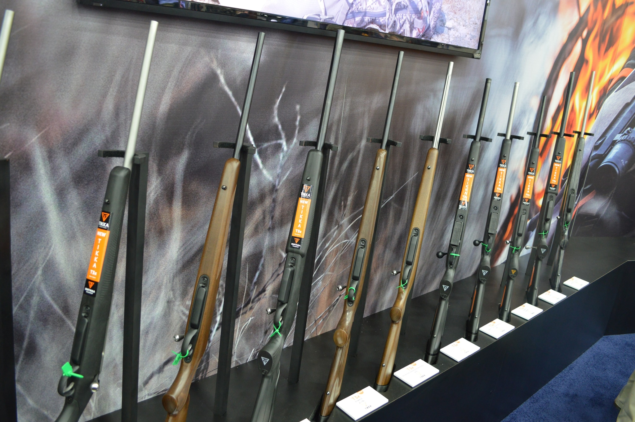 Tikka launched the new T3x line of rifles at NRAAM, with seven models covering 15 calibers. (Photo: Kristin Alberts/Guns.com).