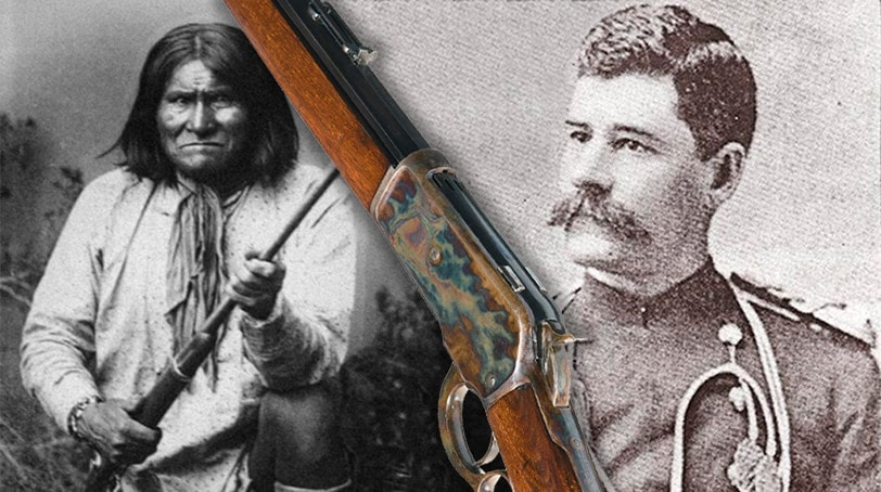 The rifle belonging to Medal of Honor recipient Henry W. Lawton for capturing native warrior Geronimo.