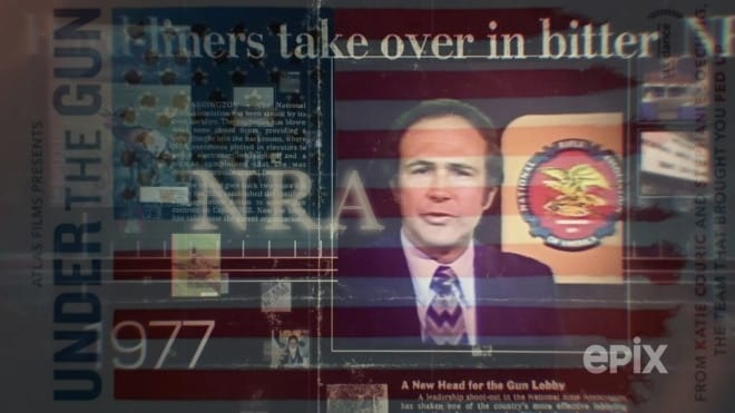 "Katie Couric's ""Under the Gun"" documentary takes aim at the NRA, who in 1977 was taken control by a small group of radical members. (Image: Jared Morgan via Epix/Atlas Films)"