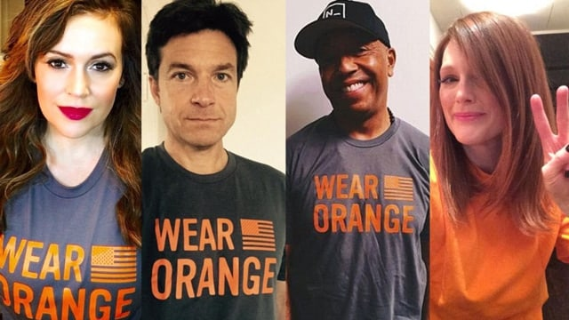 """Celebrities participating in last year's """"Gun Violence Awareness Day."""""""