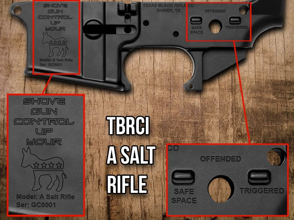 AR maker kicks off 'A Salt Rifle' lowers for those not easily offended