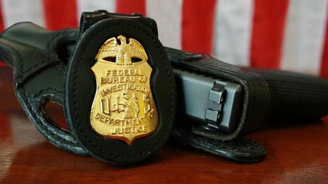 FBI badge gun glock