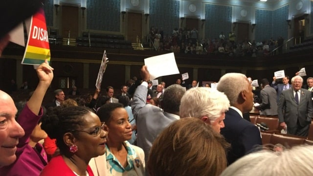 Republicans, gun rights groups paint House sit-in as publicity stunt